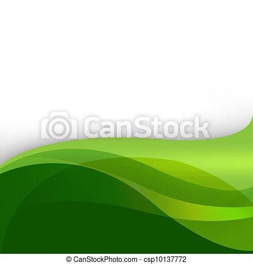 Un fondo abstracto de naturaleza verde - csp10137772