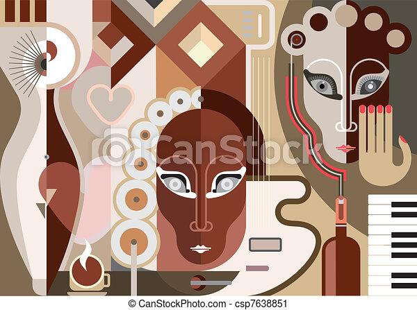 Abstracción musical - csp7638851