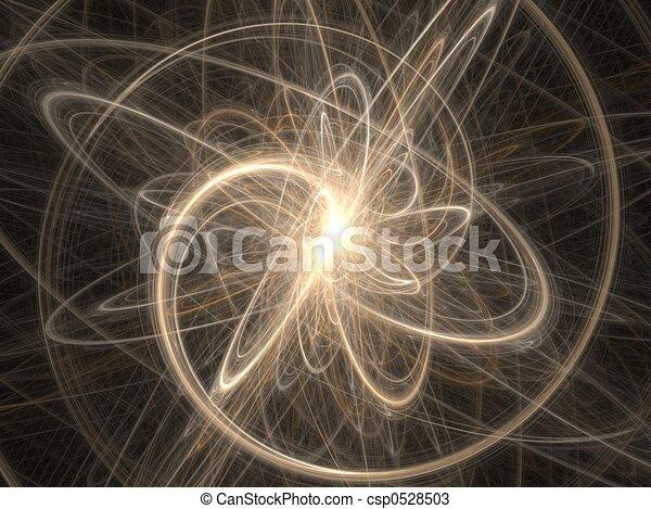Cosmos gráficos fractales - fondo abstracto - csp0528503