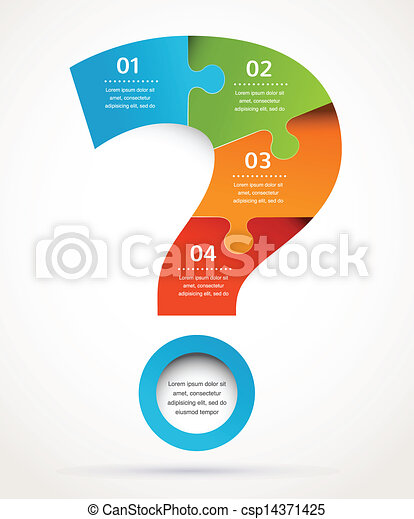 Marca de interrogación diseño abstracto e infligido, antecedentes - csp14371425