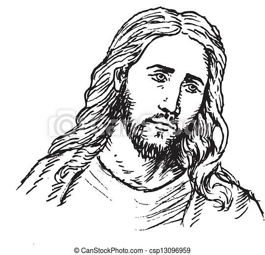 Retrato de Jesús - csp13096959