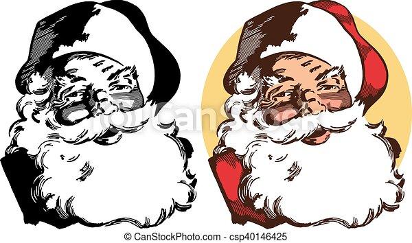 Retrato de Santa Claus - csp40146425