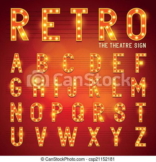 Retro bombilla alfabeto - csp21152181