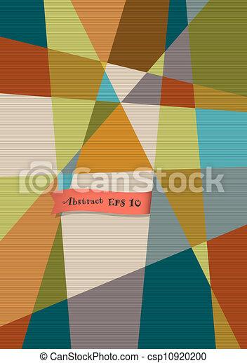 Retro texturizado fondo geométrico - csp10920200