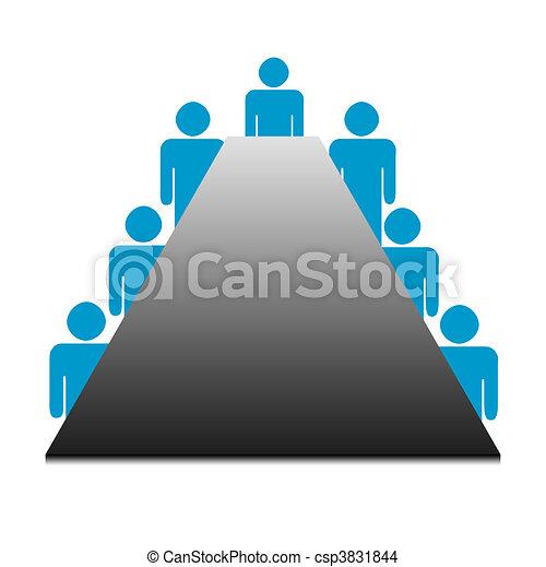 Reunión de la junta de negocios - csp3831844