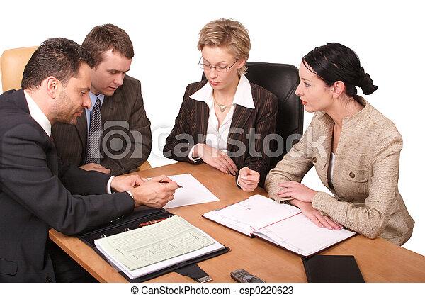 Reunión de negocios - csp0220623