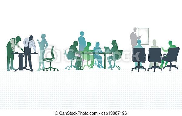 Reunión de oficina - csp13087196