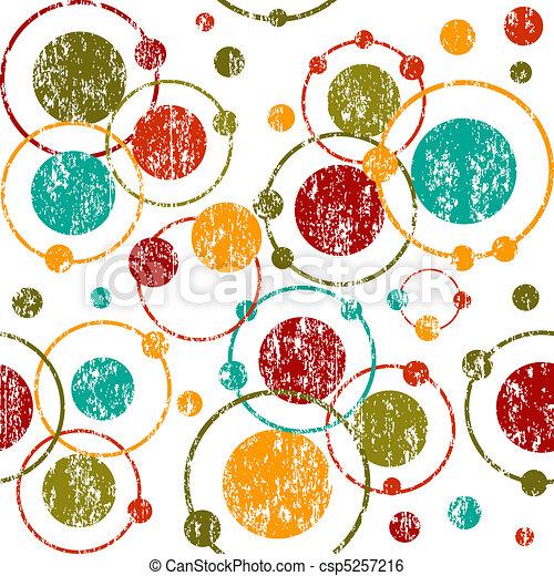 Revolcar fondo retro con círculos y puntos - csp5257216