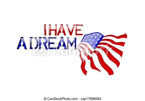 Martin Luther King Jr. tengo una drea - csp17699084