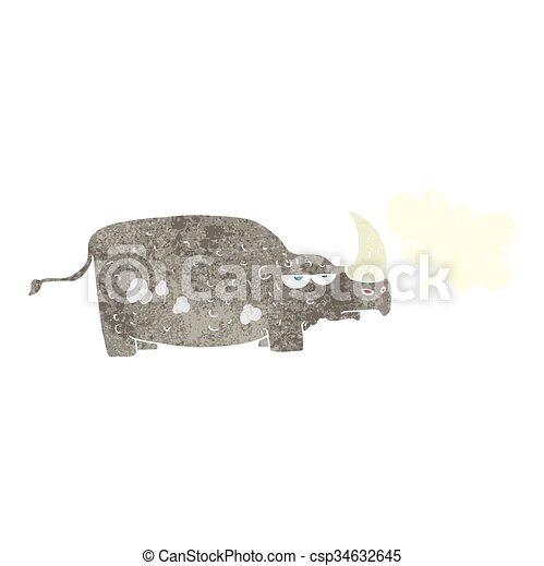 Rhino de dibujos animados - csp34632645