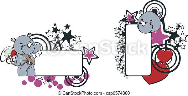 Rino bebé de dibujos animados - csp6574300