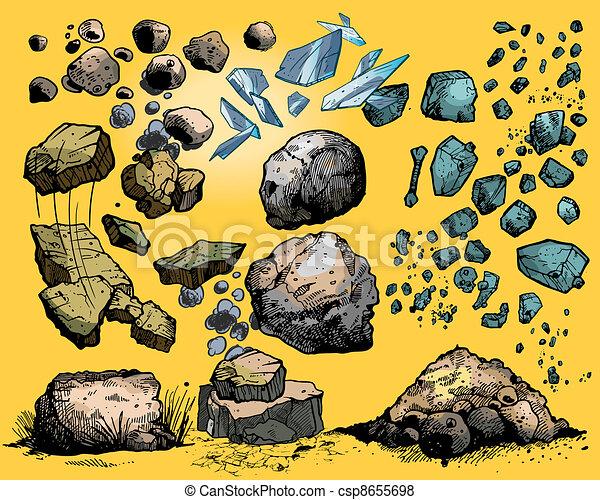 Piedras y piedras - csp8655698
