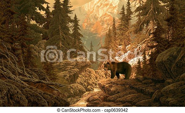 Oso en las rocas - csp0639342