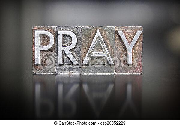 Letra de oración - csp20852223