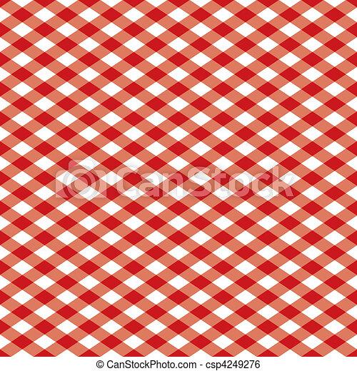 Patrón Gingham rojo - csp4249276