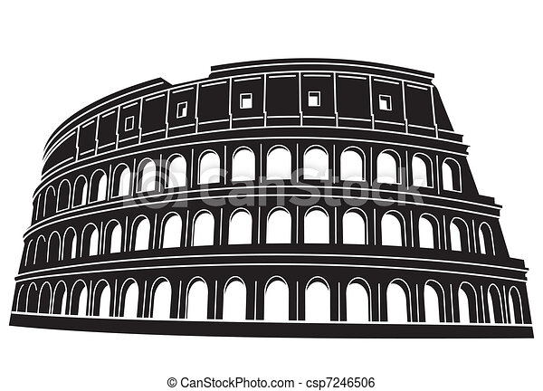 Coliseo en roma, Italia - csp7246506