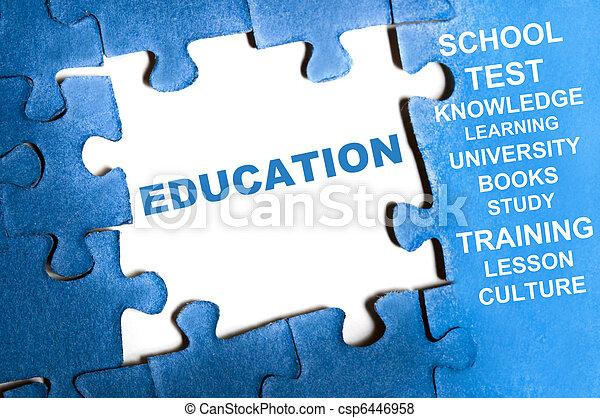 Un rompecabezas de educación - csp6446958