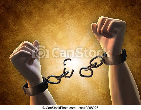 Rompiendo cadenas - csp10208276