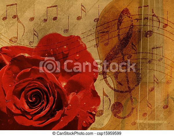 La música aumentó - csp15959599
