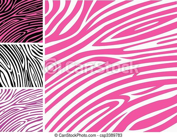 Patrón rosa de piel de cebra - csp3389783