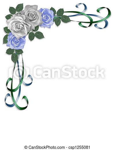 Rosas azules y blancas - csp1255081