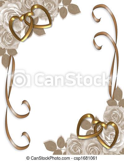 Una invitación de bodas de Sepia - csp1681061