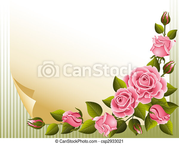 Fondo de rosas - csp2933021
