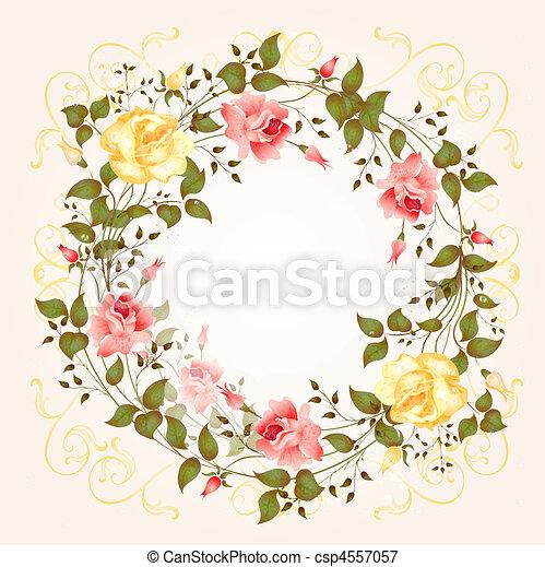 Antecedentes con rosas - csp4557057