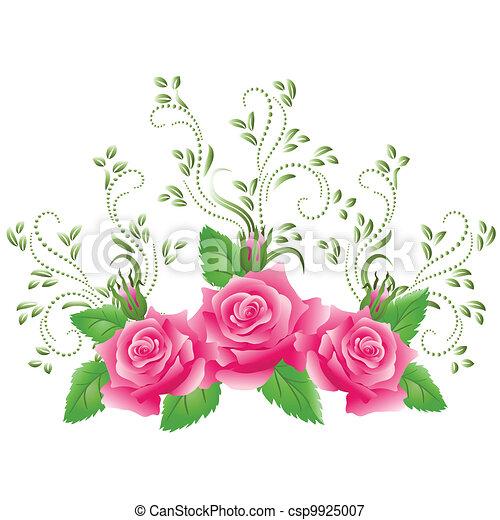 Rosas rosas - csp9925007