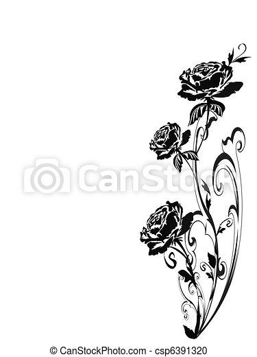 Rosas silueta - csp6391320