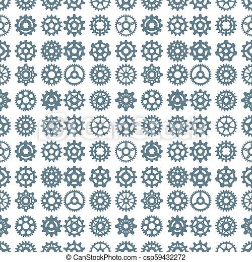 El vector engranajes de iconos sin un patrón de diseño de maquinaria de maquinaria de maquinaria mecánica técnica mecánica mecánica mecánica. - csp59432272