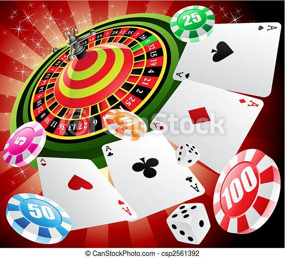 Casino y ruleta - csp2561392