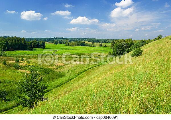 Un paisaje rural. - csp0846091