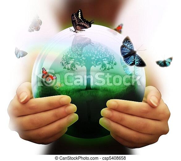 El símbolo del medio ambiente - csp5408658