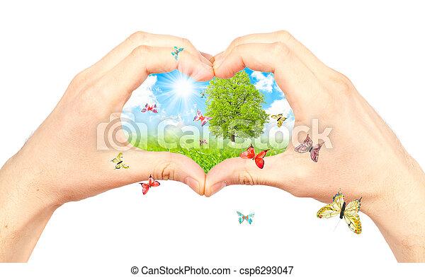 El símbolo del medio ambiente. - csp6293047