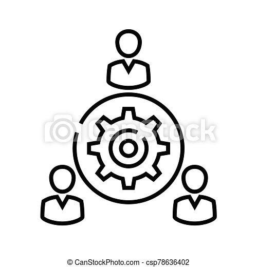 símbolo., vector, redondo, concepto, lineal, icono, tabla, ilustración, señal, línea, contorno - csp78636402