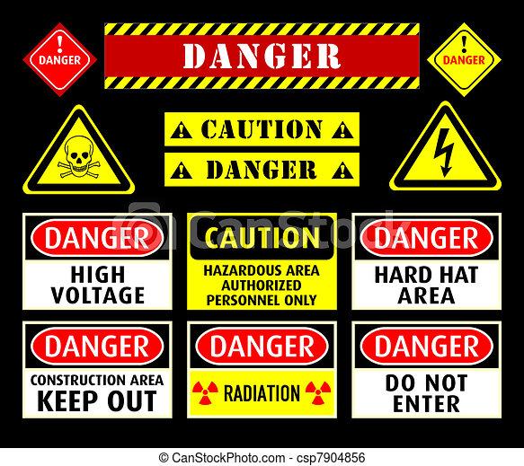 Simbolos de advertencia de peligro - csp7904856