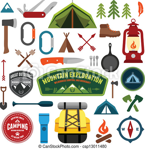 Simbolos de campamento - csp13011480