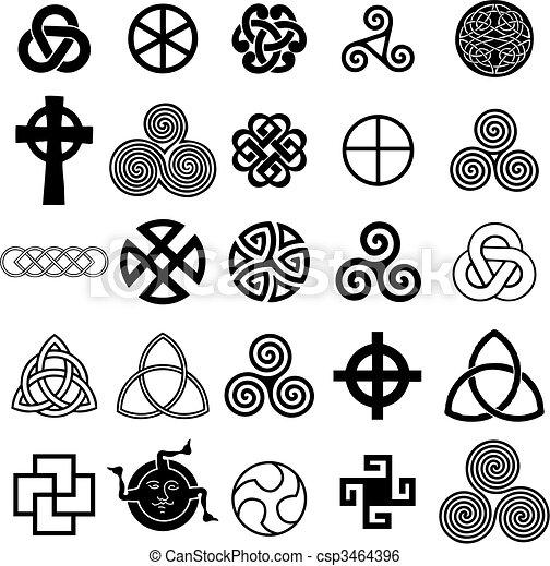 El set de símbolos celtas vectores. - csp3464396