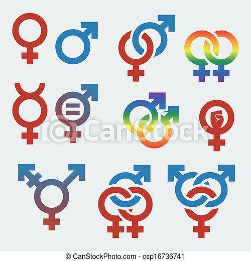 Simbolos de orientación sexual y género - csp16736741