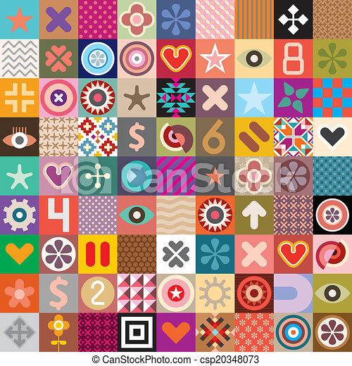 Simbolos abstractos y patrones - csp20348073