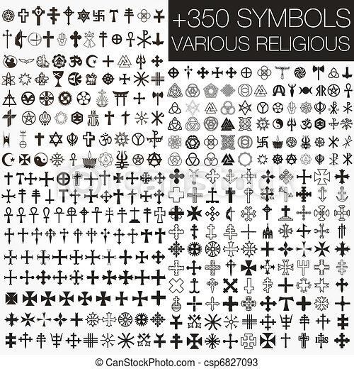 350 símbolos de vector varios religios - csp6827093
