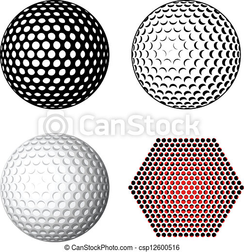 Simbolos de pelota de golf - csp12600516