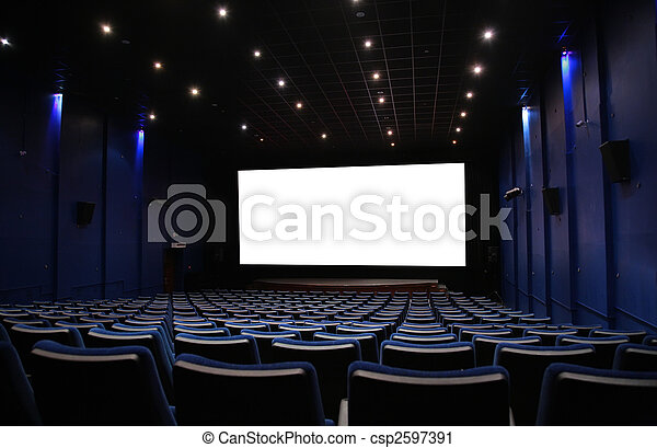 Salón del cine - csp2597391
