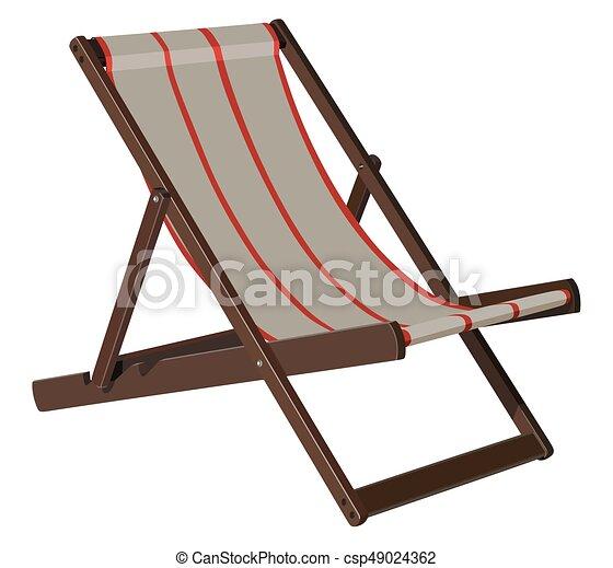 Salón Wooden Chaise - csp49024362