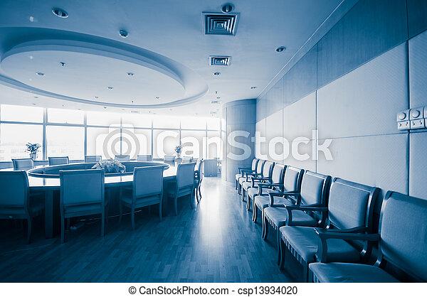 Sala de juntas de interiores moderna - csp13934020