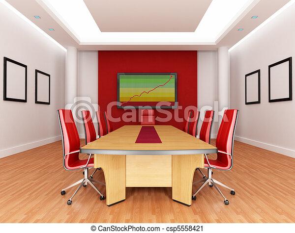 Sala de juntas rojas - csp5558421