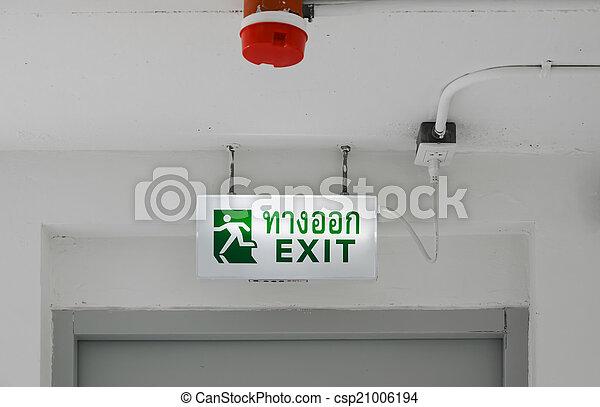 Señal de salida de emergencia - csp21006194