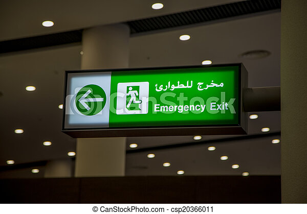 Señal de salida de emergencia - csp20366011