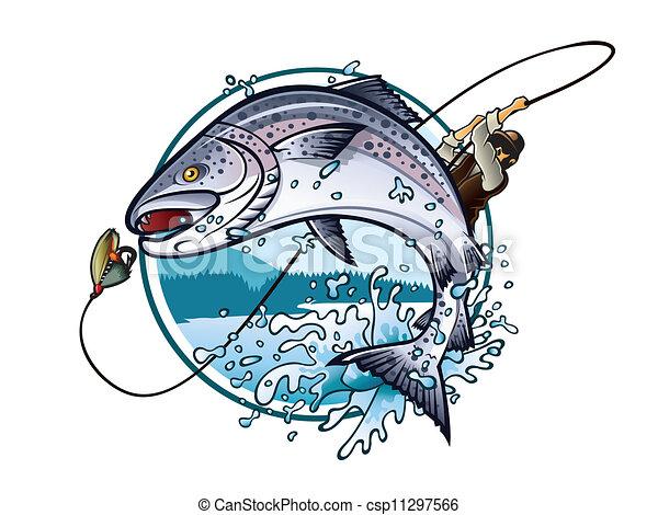 Salmón de pesca - csp11297566